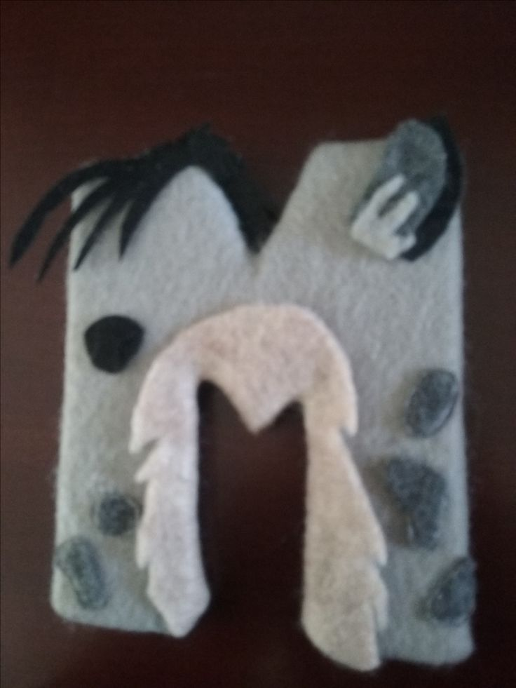 """Lion King name letters wrapped in fabric! Hyena Shenzi """"M"""""""