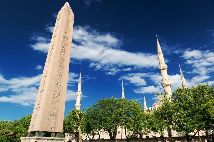 Obelisk of Theodosius, Sultan Ahmet Hippodrome, Istanbul, Turkey - مسلة تحتموس الثالث، ميدان السلطان أحمد، اسطنبول