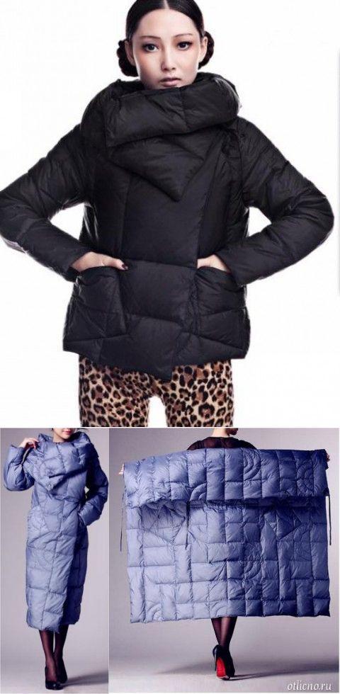 стеганая куртка из квадрата