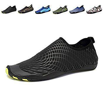Popular! Convinced Water Shoes Water Sports Shoes  Quick Dry Aqua Yoga Socks For Men Women Non-Slip Swim Water Shoes (10 Blue)