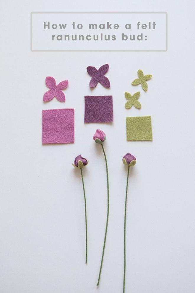 Passo a passo para fazer flores de feltro                                                                                                                                                                                 Mais