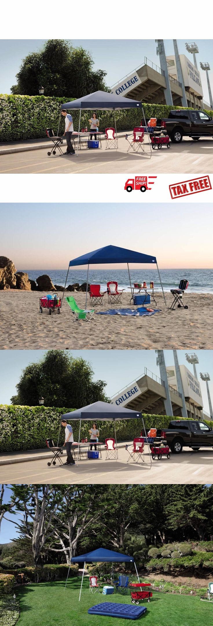 Awnings and Canopies 180992: Instant Canopy Tent 12X12 Outdoor Pop Up Ez Gazebo Patio Beach Sun Shade Steel -> BUY IT NOW ONLY: $79.98 on eBay!