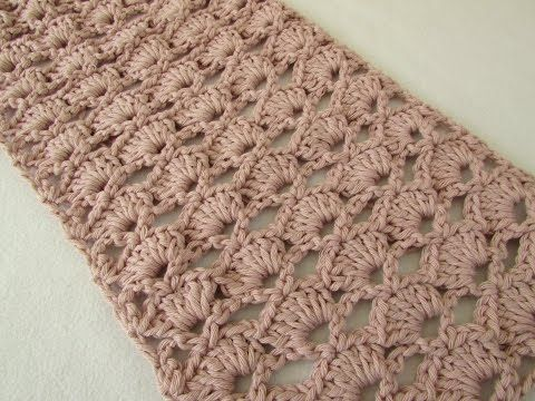 How to crochet an easy lace scarf for beginners - YouTube