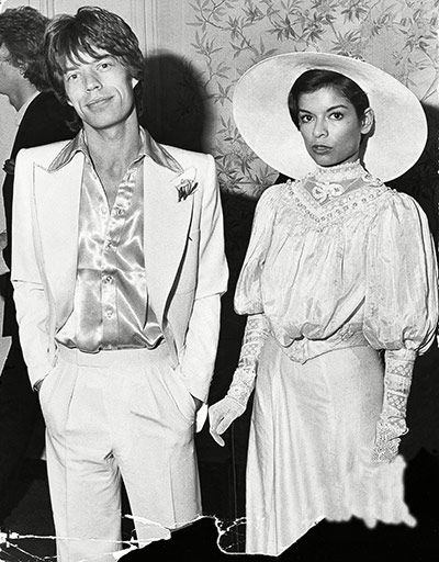 Mick and Bianca Jagger getting married in Tommy Nutter