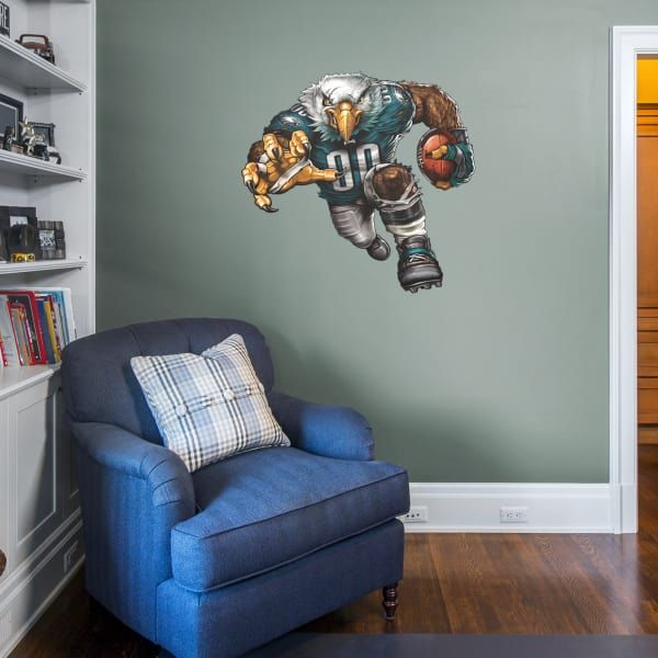 Boys Football Room. Basement. Philadelphia Eagles. NFL. Wall Decals. Follow us on Pinterest for all your home decorating needs.