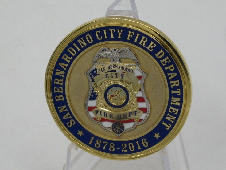 Califronia City of San Bernardino Fire Department challenge coin