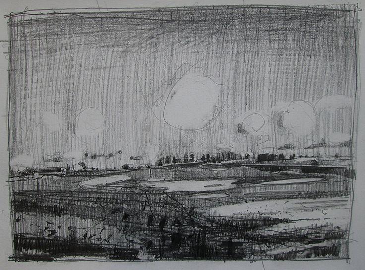 Harry Stooshinoff, pencil on paper, 9 x 12