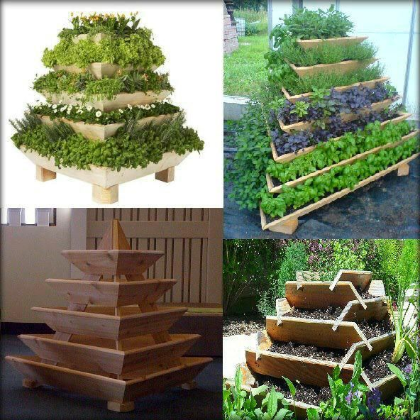 Want this pyramid garden for our backyard!