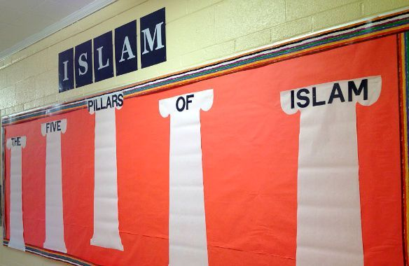 New Clash over Religion in Schools: Communities Face Backlash for Lessons on Islam - See more at: http://religionandpolitics.org/2015/08/25/new-clash-over-religion-in-schools-communities-face-backlash-for-lessons-on-islam/#sthash.sF4EBVhu.dpufMany of the speakers wore red shirts in solidarity.  Dozens of them took turns standing at the microphone to lash out at the members of the school board in front of them.