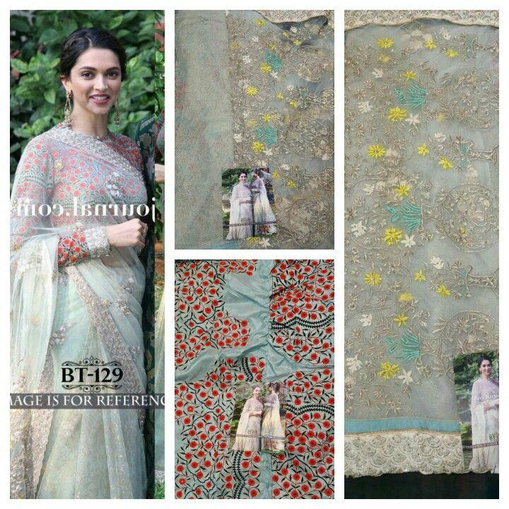 Georgeous bollywood replica saree of Deepika padukone Price 99 usd  Free shipping D no mansa1 @www.jsdeal.com