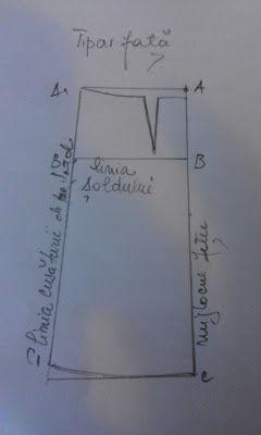 Adriana  Hobby: Tiparul de  faţă al fustei clasice - măsura 46 - 4...