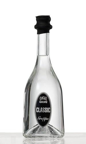 """$18,35 Classica grappa bianca, distillata da vinacce miste di uve """"retiche"""" del Triveneto."""
