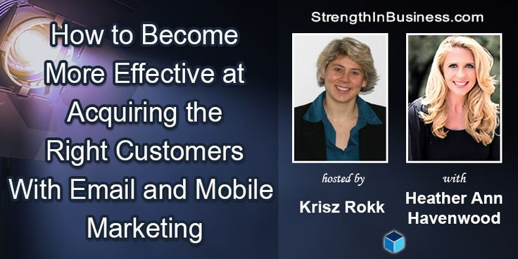 Is email marketing dying, transitioning or evolving? http://www.strengthinbusiness.com/email-marketing-heather-havenwood/  What's the current state of SMS and mobile marketing? Krisz Rokk and serial entrepreneur Heather Havenwood talk about it in today's StrengthInBusiness podcast episode. #emailmarketingtips #mobilemarketing #marketingtips #smsmarketing
