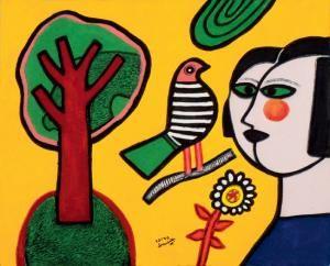 vrouw-met-boom-en-vogel.jpg 300×242 pixels