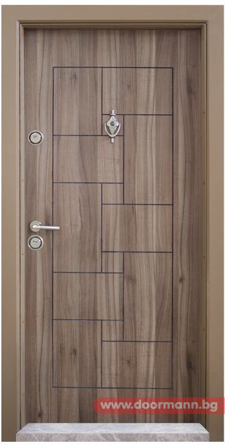 Блиндирана входна врата - Код T100, Цвят Спарта