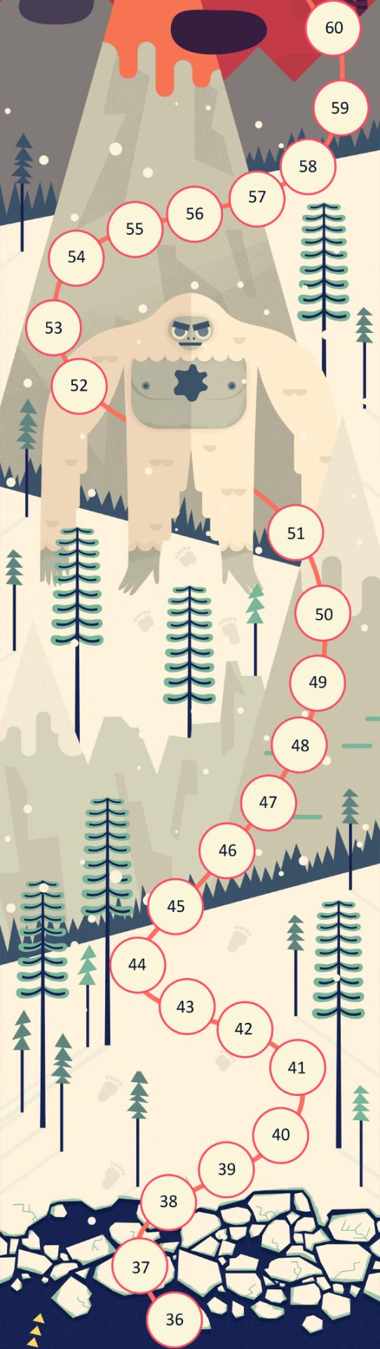 Here is a roundup of the first 9 maps that I created for Two Dots. See how the whole lot look together here:http://www.owendavey.com/TwoDotsor get the game for free and see them all in action:http://weplaydots.com/twodots.html