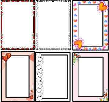 Valentines Day Teaching Resources Page Borders Colouring Pages And