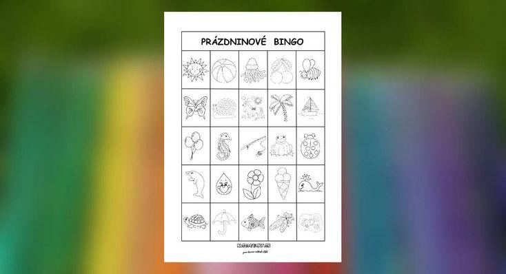 Spoločenská hra pre deti Bingo. Vhodná na prázdninové letné obdobie.