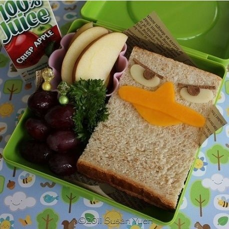 Jacob's lunch: Back To Schools, Sandwiches, Schools Lunches, Lunches Boxes, Lunches Ideas, Angry Birds, Perry The Platypus, Lunchbox, Kid