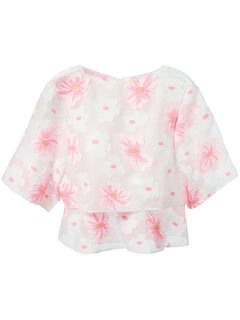 Shop Chloé flower top in Smets - Chloé - pres spring 2015 - SMETS
