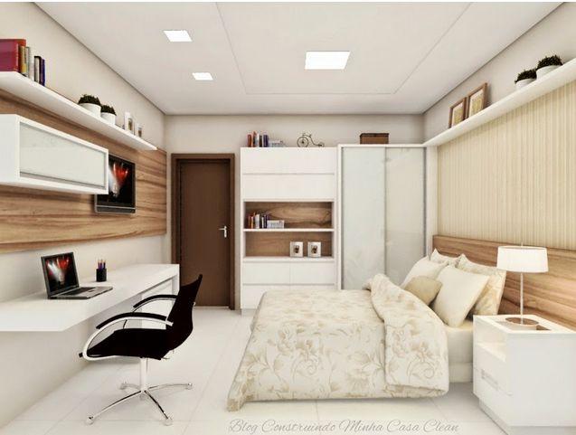 Construindo Minha Casa Clean: Dúvida da Leitora Gisela! Decoração do Quarto de Hóspedes com Home Office!