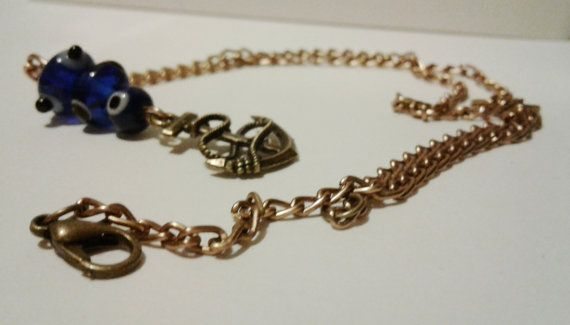 Anchor Necklace by RogueUnicornCrafts on Etsy