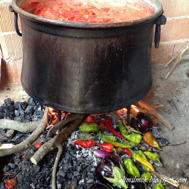 domates salçası yapımı