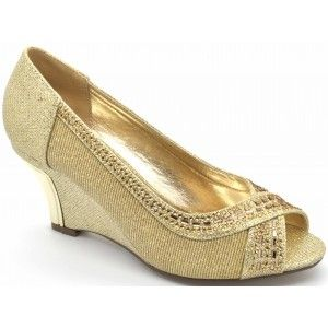 Wholesale Mid Heel Glitter Wedges for Ladies - Wilfordshoes.com
