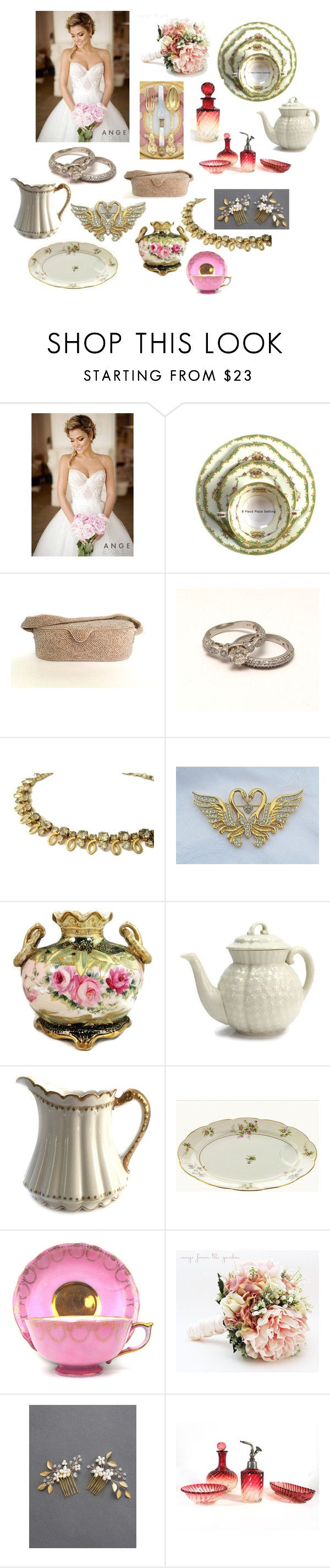 """""""Bridal Registry"""" by patack ❤ liked on Polyvore featuring Noritake, Lenox, Haviland and vintage"""