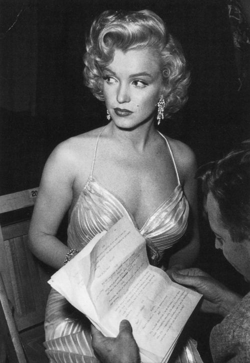 Marilyn Monroe..always felt paranoid about people talking badly of her behind her back at work, especially when she was struggling to remember lines.