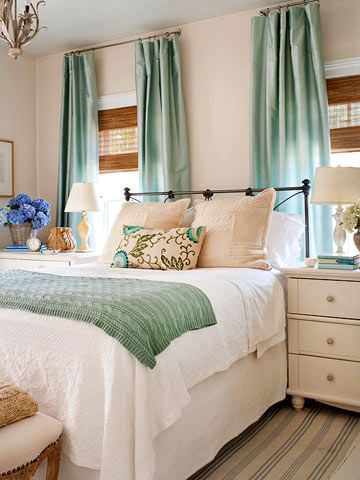 Love this color combo!! DIY Decor :: How to Create a fresh & pretty Cottage Bedroom!
