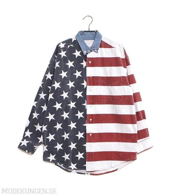 Skjorta med den amerikanska flaggan - Shirts & Tunics - Women - Modekungen | Clothing, Shoes and Accessories