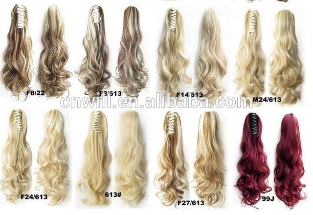 Wholesale claw clip ponytail hair extensions synthetic hair ponytail 170grams From m.alibaba.com