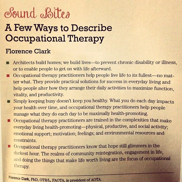 If you didn't know, now you know. #occupationaltherapy #otpractice #ot #aota #career #health #profession