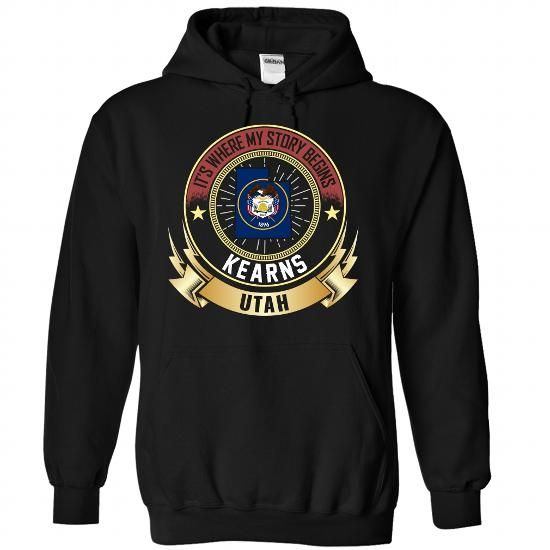 Kearns - UTAH IS WHERE MY STORY BEGINS - #shirt pattern #unique hoodie. WANT => https://www.sunfrog.com/States/Kearns--UTAH-IS-WHERE-MY-STORY-BEGINS-4303-Black-Hoodie.html?68278