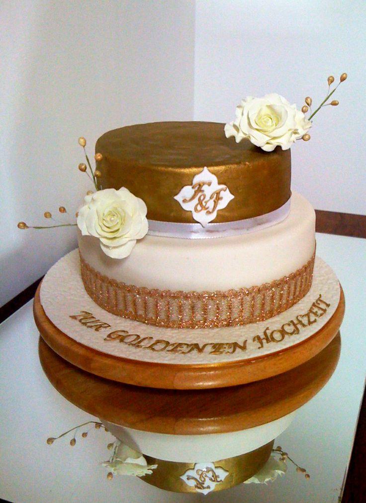 cake torte zur goldenen hochzeit zur goldenen goldenen hochzeit torte ...