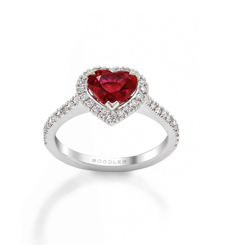 New Vintage Heart Ruby Ring - Boodles