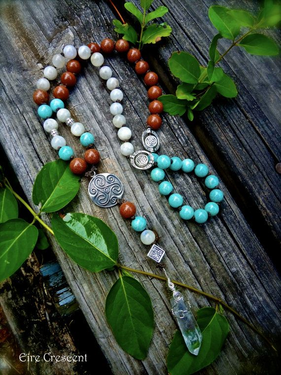 Earth Sea Sky Celtic Prayer Beads by EireCrescent on Etsy