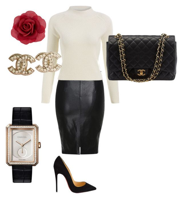 """""""Untitled #4"""" by explorer-14536960712 on Polyvore featuring Accessorize, Christian Louboutin, Chanel, women's clothing, women's fashion, women, female, woman, misses and juniors"""