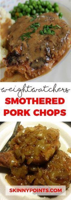 Smothered Pork Chops - Weight watchers SmartPoints