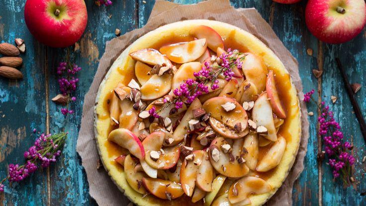 Ostekake med Snøfrisk, salt karamell og epler – Ida Gran-Jansen