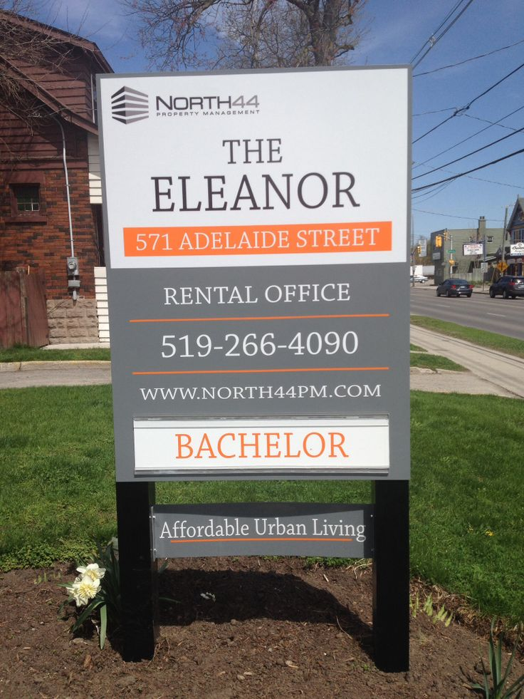 Our new sign has been installed!   The perfect spring addition to The Eleanor front lawn. Thanks Bolt Signs for putting this together for us!   Call us today to boom your viewing! 519-266-4090