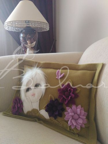 Polar yastık  Baharca tasarım  handmade
