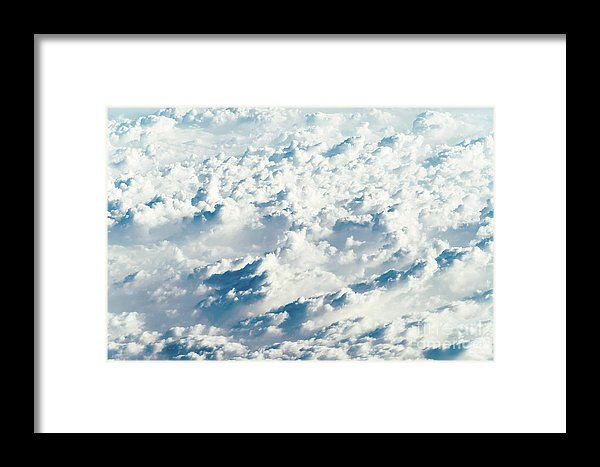Aerial View Of Beautiful Landscape Of Earth Clouds Framed Print