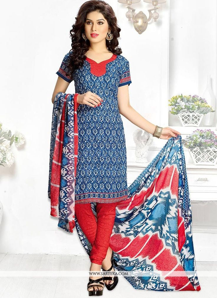 Keep ahead in fashion with this multi colour leon churidar suit. It has been beautifully designed with print work. Comes with matching bottom and dupatta. (Slight variation in color, fabric & work is ...