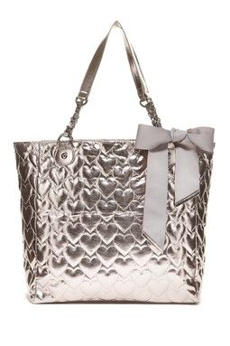 Betsey Johnson Heart Quilt Tote Bag