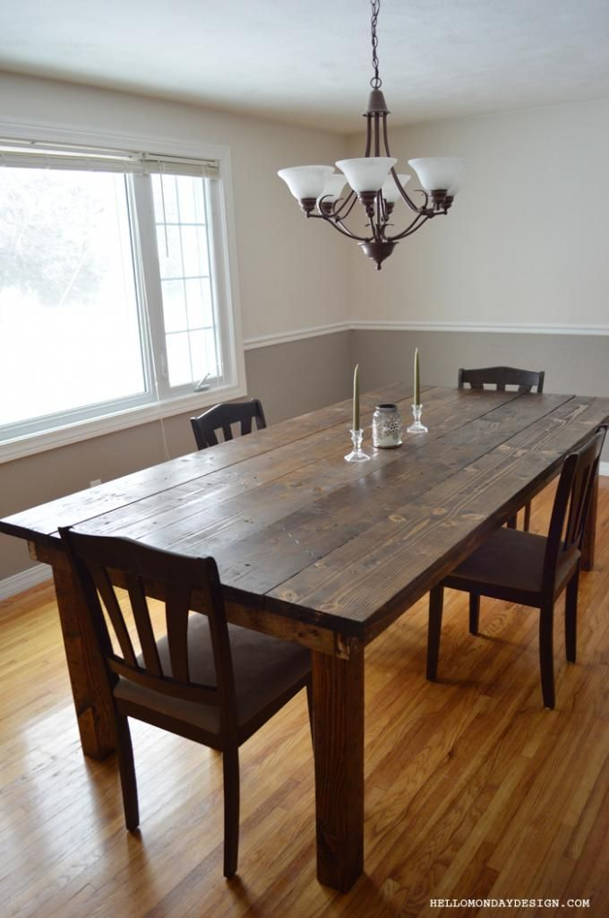 Diy barn table diy barntable homeprojects home for Table cuisine 90 x 60