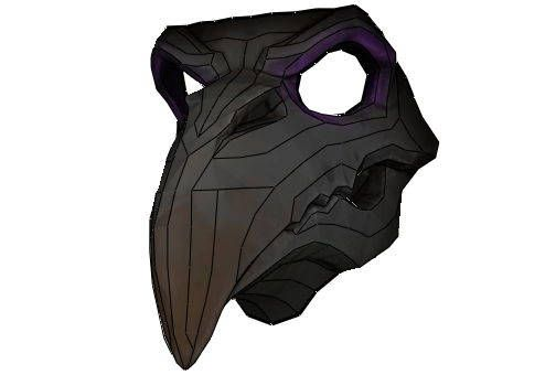 Overwatch - Life Size Nevermore Skin Reaper Mask Free Papercraft Download