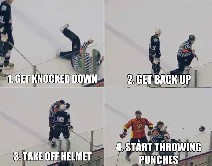 In Soviet Russia, referee fights YOU!