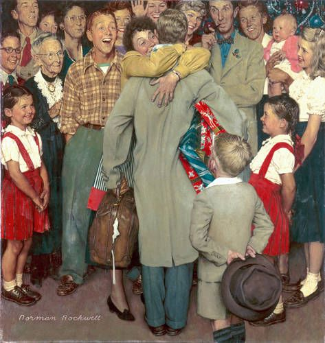 "Norman Rockwell: ""Christmas Homecoming"", 1948."